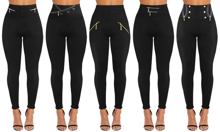 Two-Pack of Slimming-Effect Fleece-Lined Leggings From £12.98