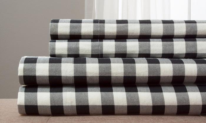Up To 92 Off On Cotton Flannel Sheet Set Livingsocial Shop