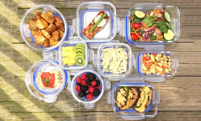 18 Piece Kinetic Glasslock Elements Food Storage Container Set: 18 Piece  Kinetic Glasslock ...