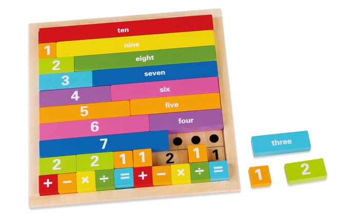 Tooky Toys Wooden Educational 32-Piece Counting Board Game from £7.99