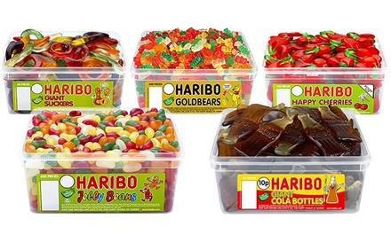 1.1kg Classic Haribo Party Sweets Tub in Choice of Flavour