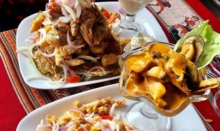 Menú peruano para 2 o 4 con entrante, principal, postre y bebida en Sabor Norteño (hasta 57% de descuento)