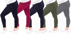 ROZAS Women's Plus-Size Fleece Leggings (3-Pack)