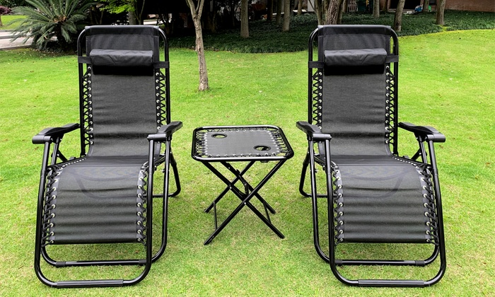 Zero Gravity Two Chairs and Table Outdoor Set (£67.99)