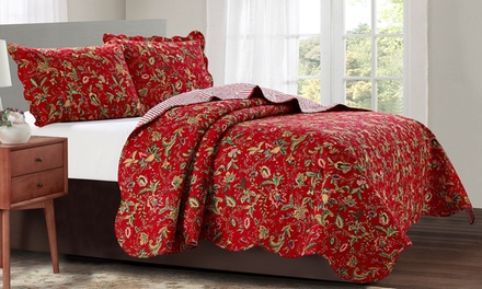 Glory Home Design FloralQuilt Set Collection - Assorted Patterns (3-Piece)