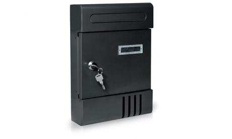 Cassetta postale nera in ferro con fessura automatica, con spedizione gratuita