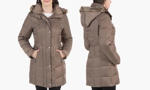 Kenneth Cole Women's Down Coat with Faux-Fur Trim Hood (Size XS) at Kenneth Cole Women's Down Coat with Faux-Fur Trim Hood, plus 6.0% Cash Back from Ebates.