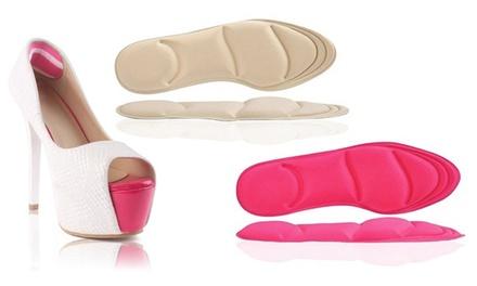 1, 2 ou 4 paires de semelles orthopédiques confort 4D