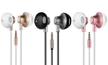 1 o 2 pares de auriculares metalizados con manos libres