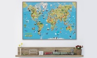 Children's Wall Maps from €11.27 With Free Delivery (Up to 82% Off)