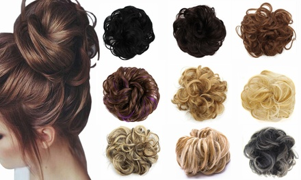 One or Two Messy Bun Scrunchie Hair Extensions
