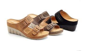 Lady Godiva Women's Comfort Support Wedge Sandals