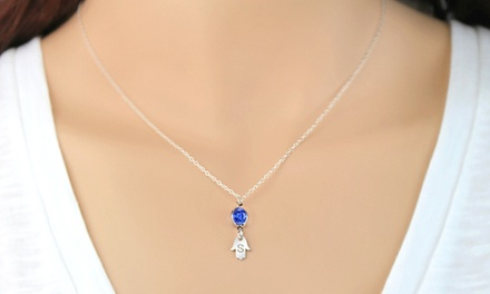 Custom Hamsa Necklace in Sterling Silver from ShopOnlineDeals