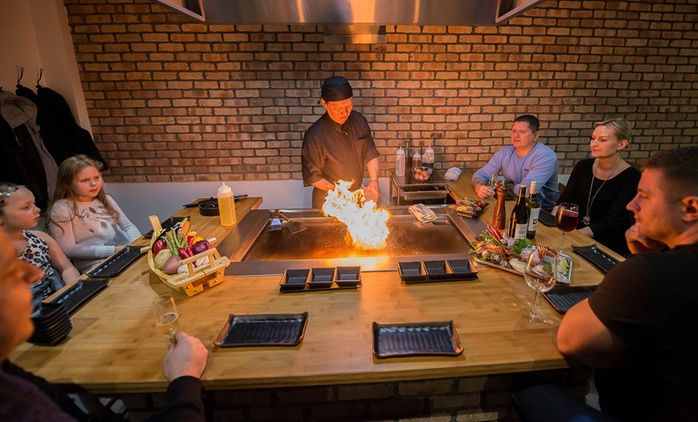 Teppanyaki Dining Experience for Up to Four at Sushi City