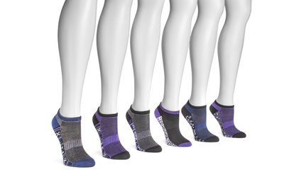 Image Placeholder For MUK LUKS No Show Socks 6 Pairs