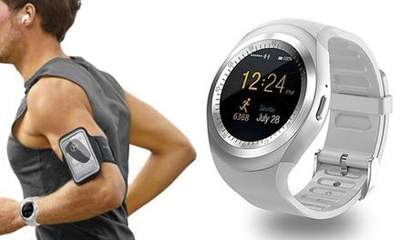 Fitness tracker SW422 PRO multifunzione con fascia portacellulare da braccio in omaggio