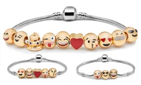 Emoticon-Armband mit 3, 5 oder 10 Charms
