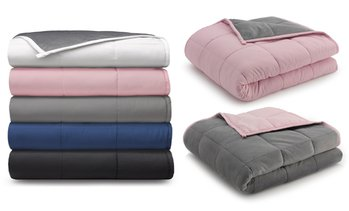 Ella Jayne Reversible Anti-Anxiety Weighted Microfiber Blanket