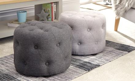 Rotunda Buttoned Footstool