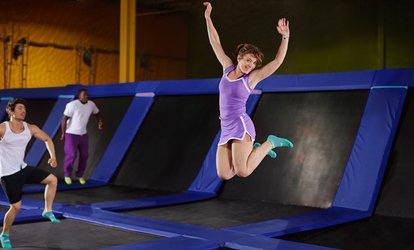 image for Two or Four 1-Hour Jump Passes, or Birthday Party for Up to 15 Kids at Jump-N- Trampoline Center (Up to 29% Off)