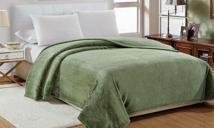 Luxury Home Oversized Ultra Soft Popcorn Blanket