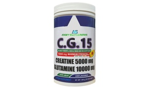 Angry Supplements Creatine and Glutamine CG15 Supplement (30 Servings)