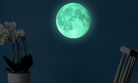 1 o 2 vinilos de luna y estrellas luminiscentes Walplus
