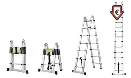 Echelle télescopique avec hauteur modulable, livraison offerte