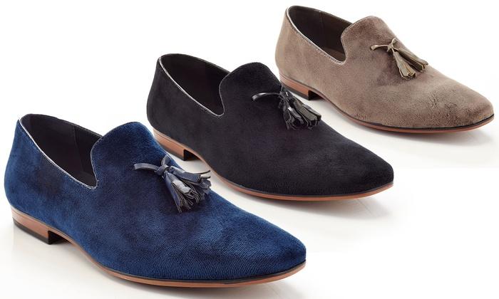 Henry Ferrera Slip-On Loafer Smoking Shoe with Tassels