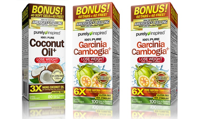 Purely Inspired Garcinia Cambogia 200 Ct And Coconut Oil 80 Ct