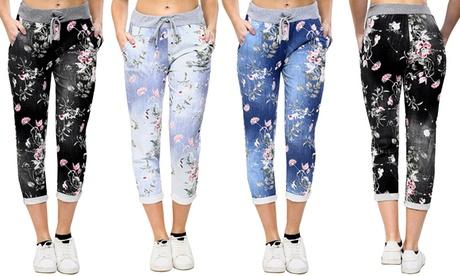 Pantalón de chándal para mujer con estampado floral