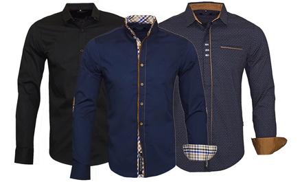 Chemises homme Carisma en coton, modèle au choix