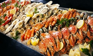 Taste of Marine by the Poolside: Seafood Themed Buffet with Soft Drinks or House Beverages for Up to Four People at Dubai Marine Beach Resort & Spa