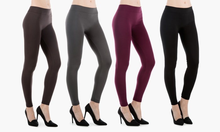 Sociology Women's Fleece-Lined Leggings (4-Pack) | Groupon Exclusive