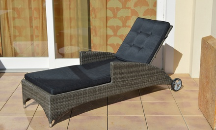 plo polyrattanrollliege rocking alu rahmen stufenlos verstellbare r ckenlehne fertig montiert. Black Bedroom Furniture Sets. Home Design Ideas