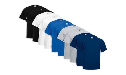 5 T-shirt Fruit Of The Loom disponibili in 5 colori e varie taglie da 12,90 € (fino a 68% di sconto)