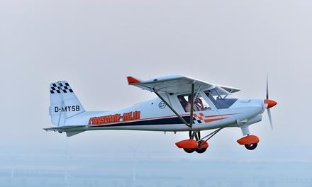 30 Min. im Ultraleichtflugzeug od. Gyrocopter selber fliegen im Flugsportzentrum Mitteldeutschland (bis zum 69% sparen*)