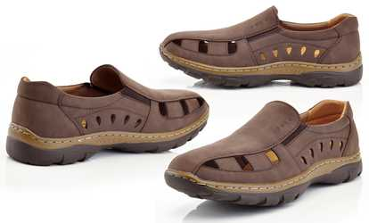 fefa6a4b4ec Shop Groupon Men s Casual Slip-on Nu-Buck Comfort Loafers