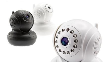Smart caméra dintérieur HD WiFi avec fonctionnalité pan/tilt avec carte mémoire de 32 Go en option
