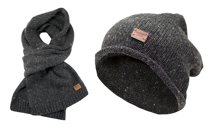 London Fog Men's Hat and Scarf