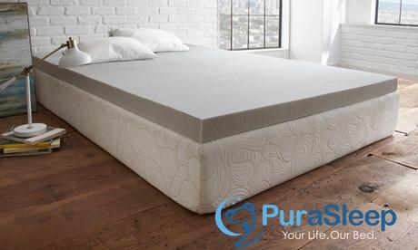 PuraSleep Carbon Comfort Gel Memory Foam Mattress Topper d206fa5c-70a9-11e6-86b5-00259069d7cc