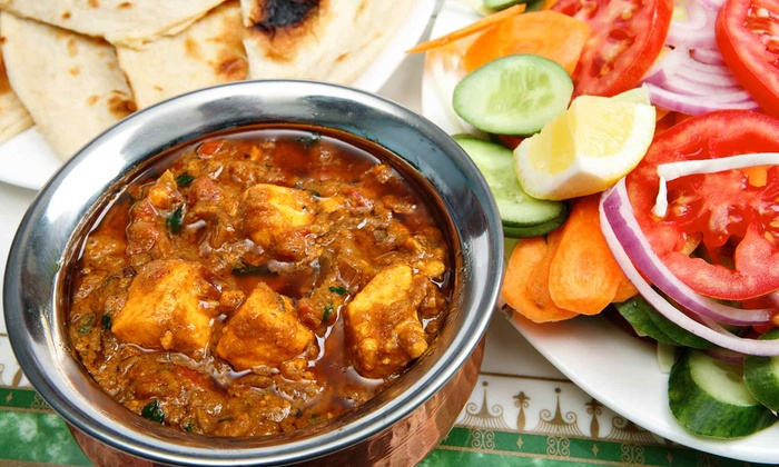 Bombay Grill - New City: Indian Dinner with Wine for Two or Four at Bombay Grill (53% Off)