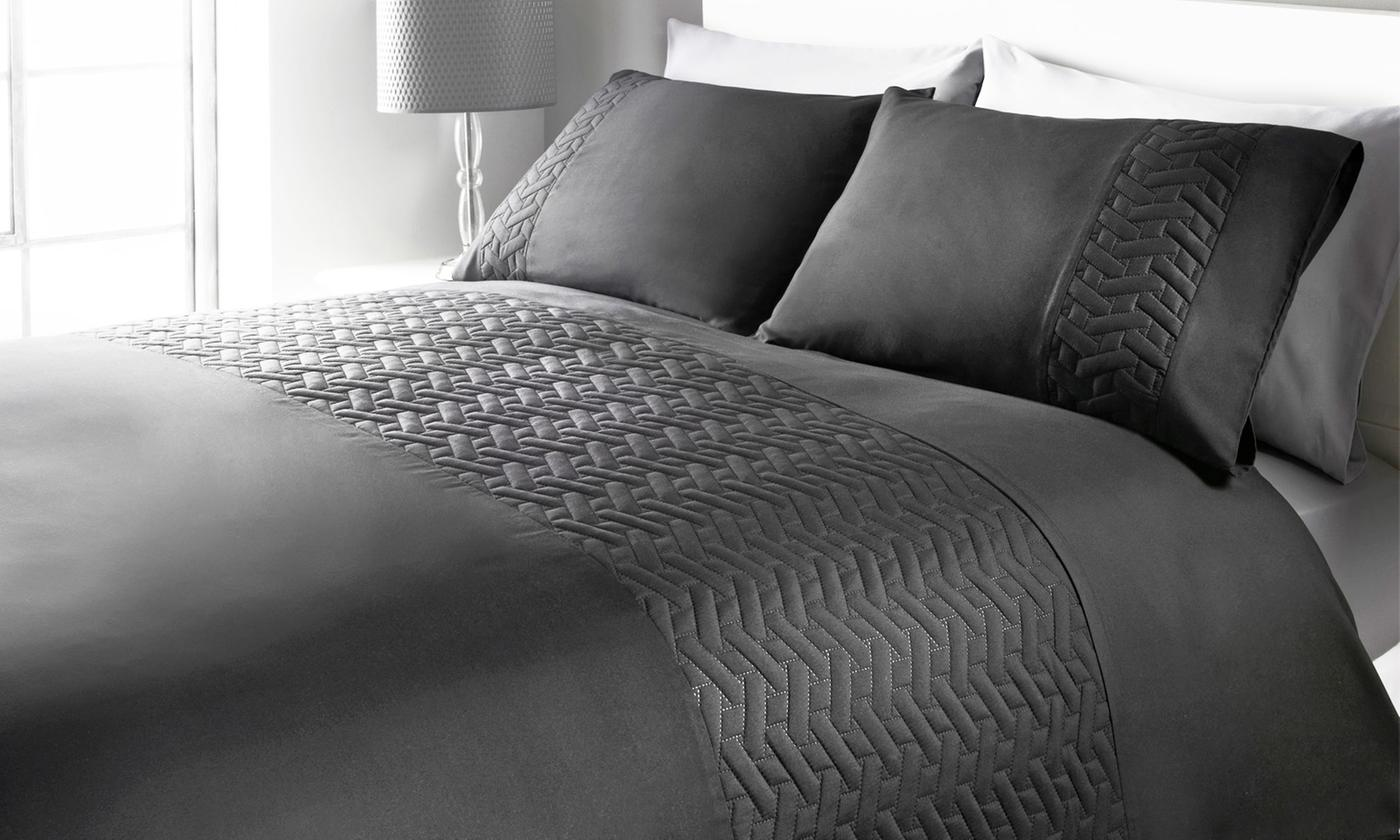 Juliette Embossed Soft Touch Duvet Set for £10.99