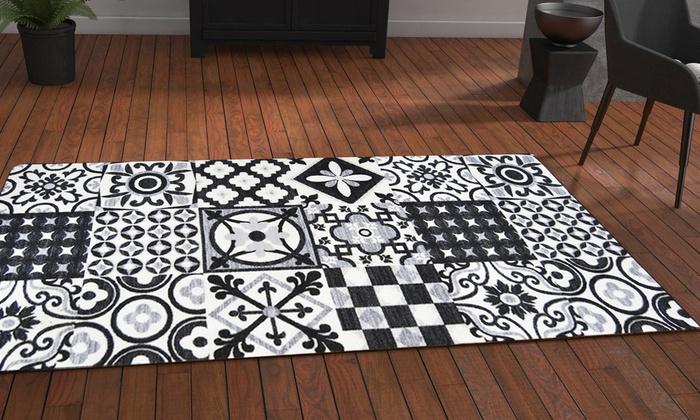 tapis carreaux de ciment groupon shopping. Black Bedroom Furniture Sets. Home Design Ideas