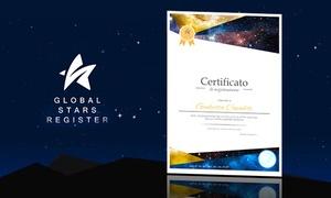 Zenais per GlobalStar: Regala una stella alla persona che ami. Un regalo unico e speciale che durerà per sempre