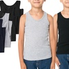 Boys' Classic Ribbed Tank Tops (6-Pack)