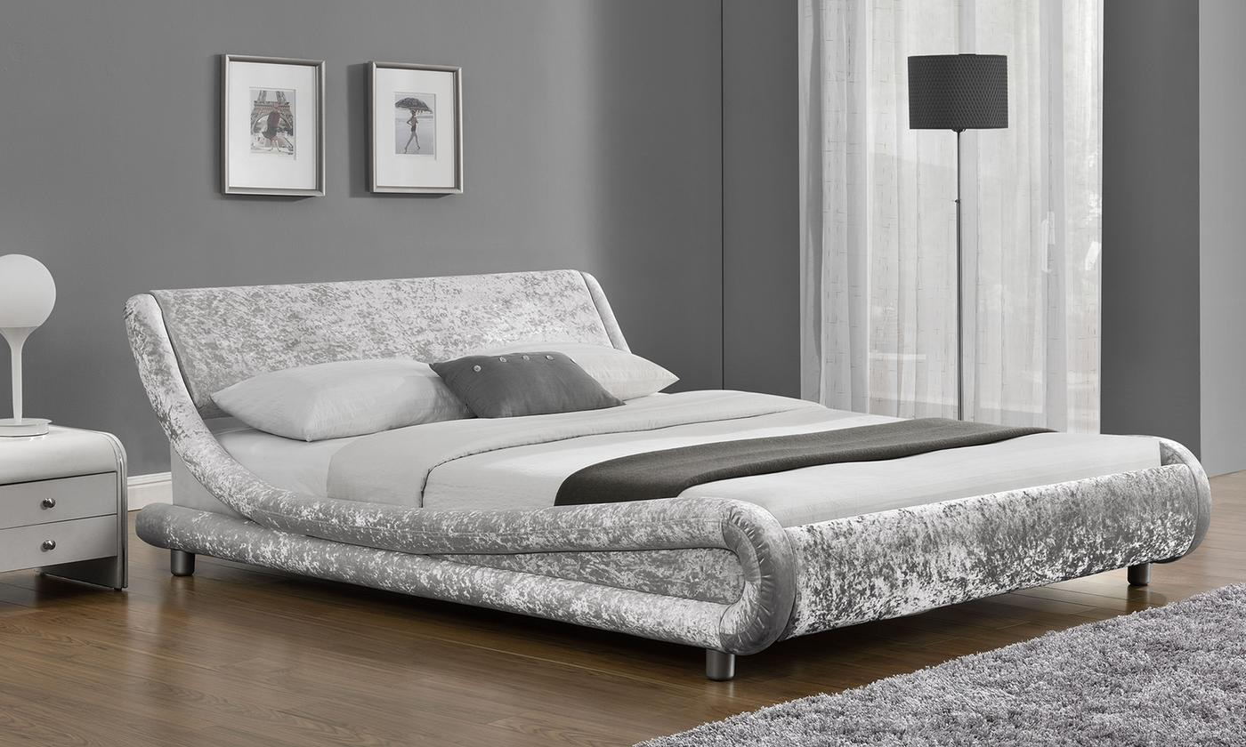 Galaxy Velvet Fabric Bed Frame with Optional Mattress from £149.99 (50% OFF)
