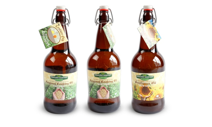 Healthy Harvest Productions - Healthy Harvest Productions: Two or Four Bottles of Cooking Oil from Healthy Harvest Productions ( 34% Off)