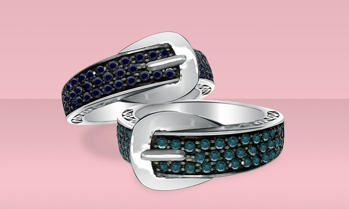 1/2-Carat Black Diamond or Blue Diamond Buckle Ring: $109.99 for a 1/2-Carat Black Diamond or Blue Diamond Buckle Ring ($199.99 List Price). Free Shipping and Returns.