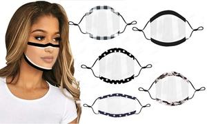 Masques transparents réutilisables